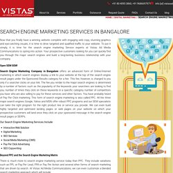 Search Engine Marketing Services in Bangalore - Vistas Ad Media