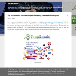 Top Reasons Why You Need Digital Marketing Services In Birmingham