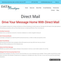 Direct Mail Marketing Services - Data Boutique