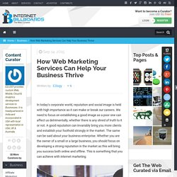 How Web Marketing Services Can Help Your Business Thrive