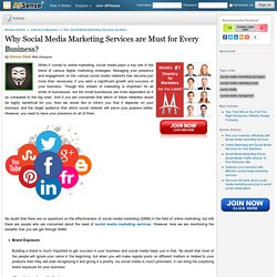 Why Social Media Marketing Services are Must for Every Business?