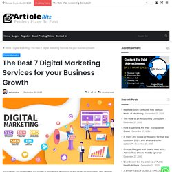 Best 7 Digital Marketing Services for your Business Growth