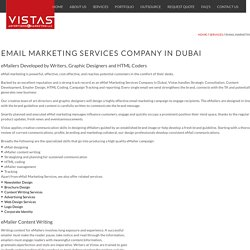 EMail Marketing Services Company Dubai – Vistas