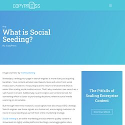 What is Social Seeding? - Content Marketing Agency