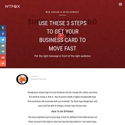 Use These 3 Steps To Get Your Business Card To Move Fast