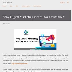Why Digital Marketing services for a franchise?
