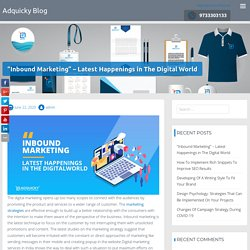 Inbound Marketing Latest Happenings