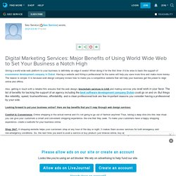 Major Benefits of Using World Wide Web to Set Your Business a Notch High