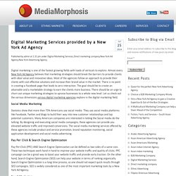 Digital Marketing Services provided by a New York Ad Agency