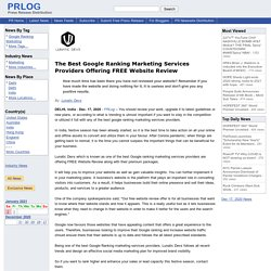 The Best Google Ranking Marketing Services Providers Offering FREE Website Review