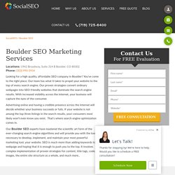 Boulder SEO Marketing Services Company