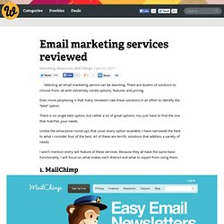 Email marketing services reviewed