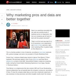 Why marketing pros and data are better together - SiliconANGLE