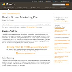 Health Fitness Sample Marketing Plan - Situation Analysis