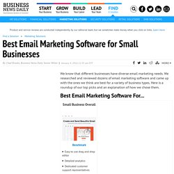 Best Email Marketing Software for Small Businesses in 2015