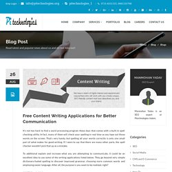 Free Content Writing Applications for Better Communication