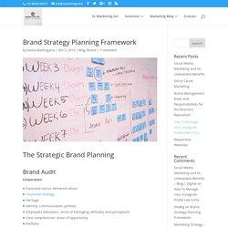 Brand Strategy Planning Framework