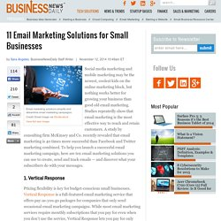 11 Email Marketing Solutions for Small Businesses