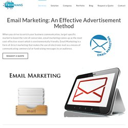 Email Marketing - Services, Solutions, Software : Technians