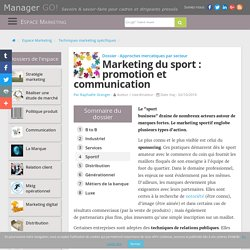 Le marketing sportif : sponsoring, relations publiques et mécénat