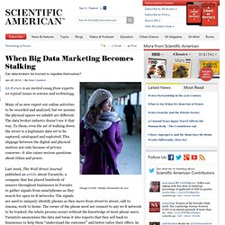 When Big Data Marketing Becomes Stalking