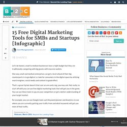 15 Free Digital Marketing Tools for SMBs and Startups [Infographic]