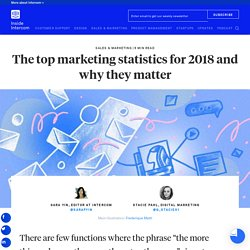 The top marketing statistics for 2018 and why they matter