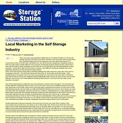 Local Marketing in the Self Storage Industry