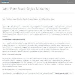 West Palm Beach Digital Marketing
