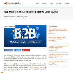 B2B Marketing Strategies for Boosting Sales in 2021