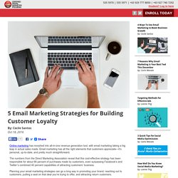 5 Email Marketing Strategies for Building Customer Loyalty