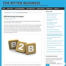 B2B Marketing Strategies – The Bitter Business
