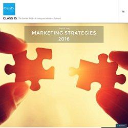 Marketing Strategies 2016 – Class 15