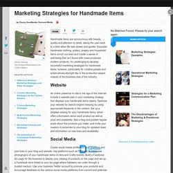 Marketing Strategies for Handmade Items