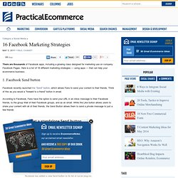 16 Facebook Marketing Strategies | Practical eCommerce