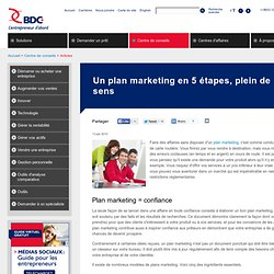 Un plan marketing en 5 étapes, plein de bon sens