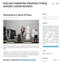 Marketing as a Game of Chess – Edan Gelt – Marketing Strategist, Fitness Blogger