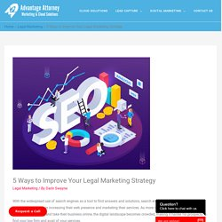 5 Ways to Improve Your Legal Marketing Strategy