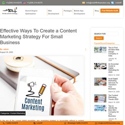 Best Content Marketing Strategy For Small Business