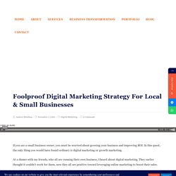 Digital Marketing Strategy For Local & Small Businesses