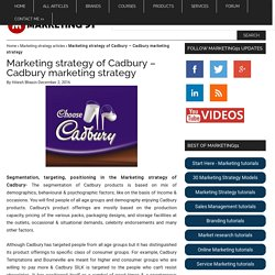 Marketing strategy of Cadbury - Cadbury marketing strategy