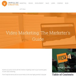 2018 Video Marketing Strategy, Tips, Tricks, & How-To: The Definitive Guide