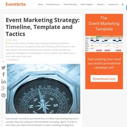 Event Marketing Strategy: Timeline, Template and Tactics - Eventbrite UK Blog