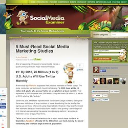 5 Must-Read Social Media Marketing Studies