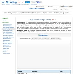 Online Video Marketing Service - Video SEO Submission Services