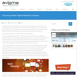Choosing A Better Digital Marketing Company