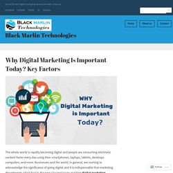 Why Digital Marketing Is Important Today? Key Factors – Black Marlin Technologies