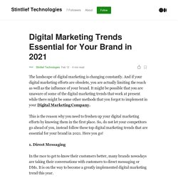 Digital Marketing Trends Essential for Your Brand in 2021