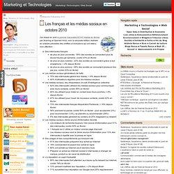 Les français et les médias sociaux en octobre 2010