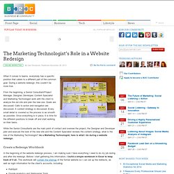 The Marketing Technologist's Role in a Website Redesign